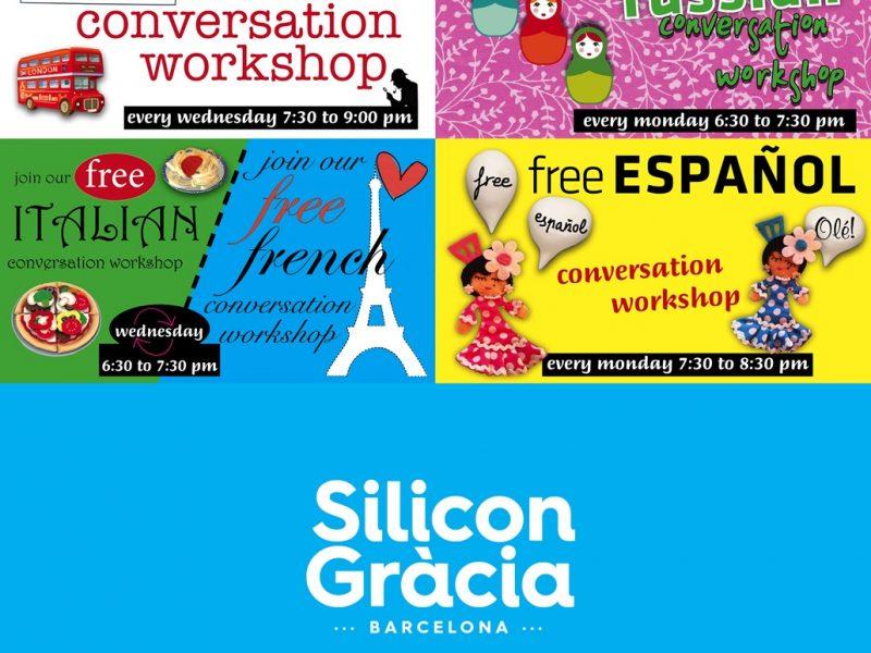 ¿Quieres aprender idiomas con Silicon Gràcia_